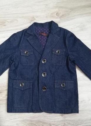 Крутой джинсовый пиджак