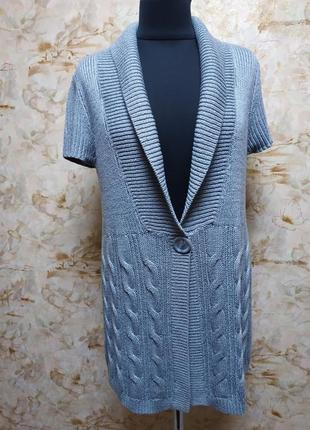Классная нарядная кофта с косами, размер 48-50