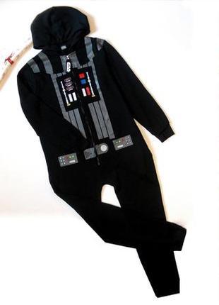 Комбез дарт вейдер звездные войны кигуруми пижама на флисе комбинезон