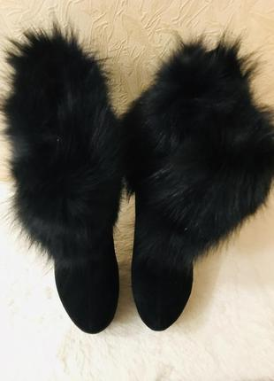Очень красивые зимние натуральные ботиночки