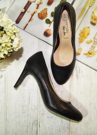 (37/24см) esmara! кожа! красивые базовые туфли лодочки актуального фасона