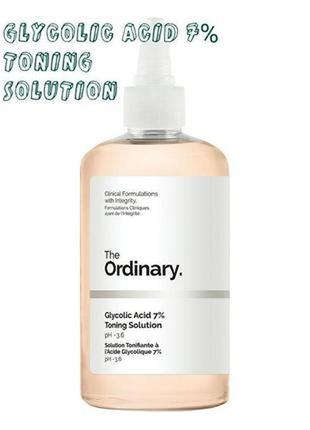 Тоник - the ordinary glycolic acid 7% toning solution