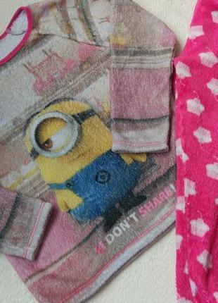 Флисовая теплая пижама george на 7-8 лет