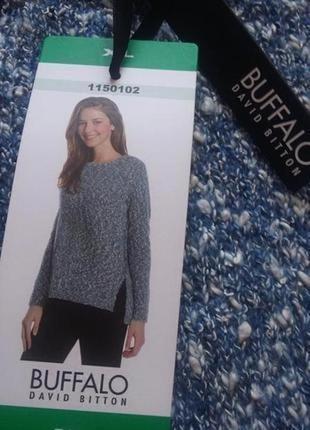 Новый свитер букле меланж красивый цвет р 14