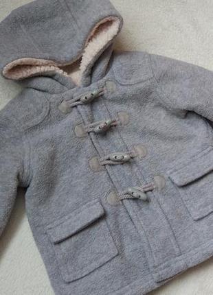 Стильное демисезонное пальто куртка george на 9-12  мес