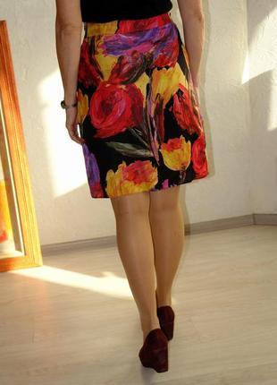 Эффектная юбка художественная расцветка фирма mosaic в идеальном состоянии