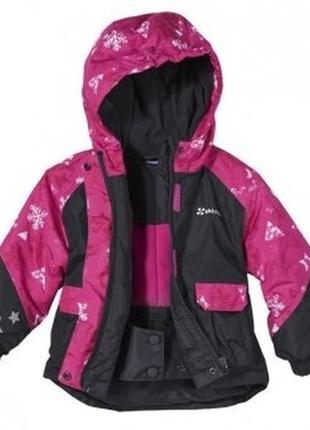 Супер легкая теплая термо куртка lupilu р.110-116 флис водо-ветрозащит