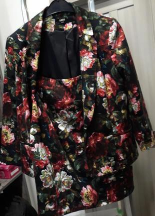 Костюм oasis: піджак та спідниця у квіти / пиджак и юбка в цветы