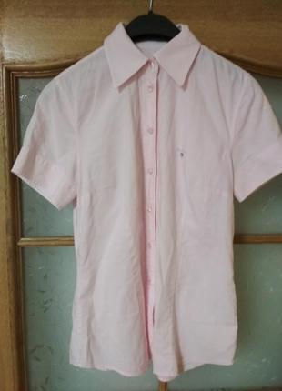 Отличная хлопковая блуза рубашка с коротким рукавом от gant, p. 38