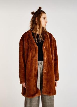 Искусственная шуба шубка пальто мех