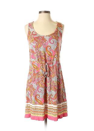 Отличное летнее платье сарафан из вискозы от h&m, p. s