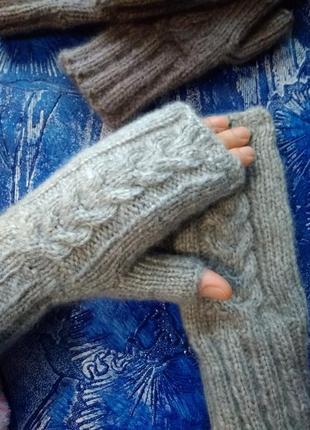 Митенки рукавички из ангоры
