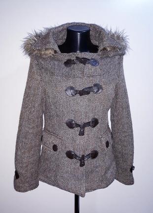Пальто зимнее короткое пальто с капюшоном