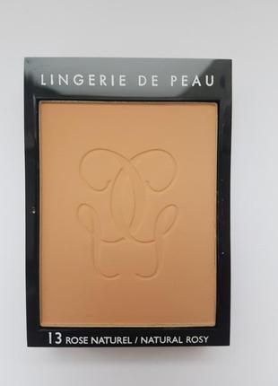 Пудра для лица guerlain lingerie de peau compact powder # 13 rose naturel