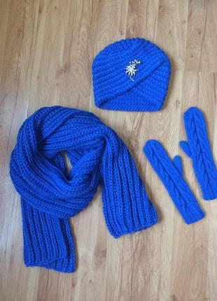 Чалма+шарф+варежки