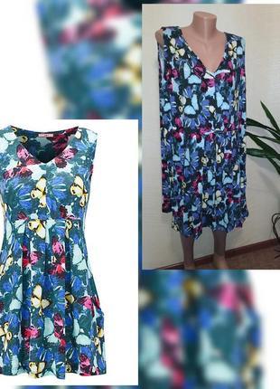 Потрясающее летнее платье туника батальный размер 28