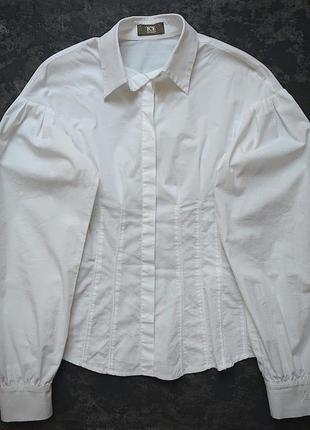 Блузка, белая женская рубашка iceberg
