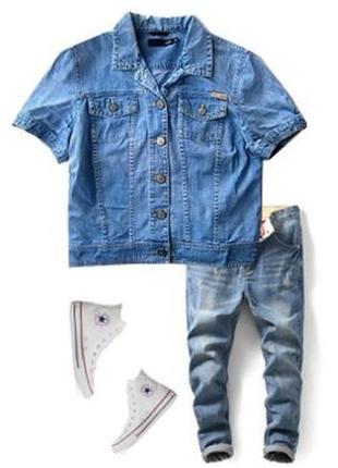 Джинсовый пиджак размер  44-46