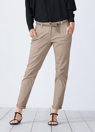 Шикарные бежевые брюки-чиносы от тсм{германия} , размер 46 евро=52