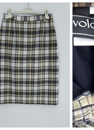 Трендовая юбка в клетку юбка карандаш в клетку l