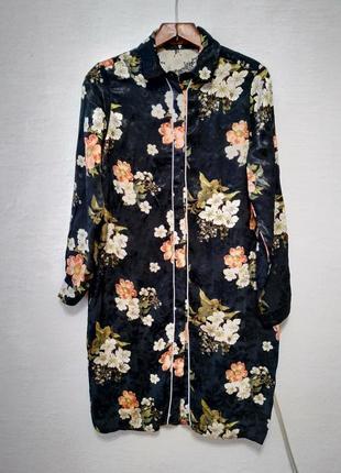 """Рубашка-платье """" цветочница большого размера"""