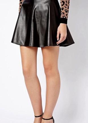Кожаная юбка new look
