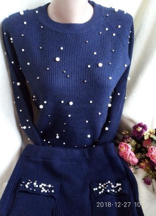 Костюм юбка миди в составе кашемир с-м-л качество люкс 44-48