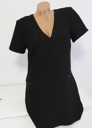 Платье черное на молниях