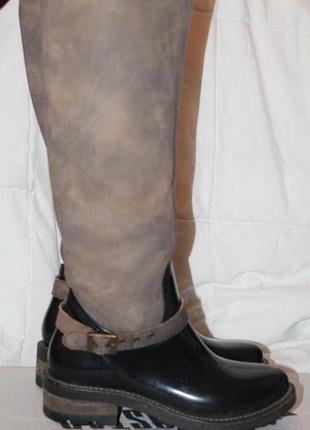 Бомбезные резиновые сапоги cubanas 39-40 верх кожа португалия