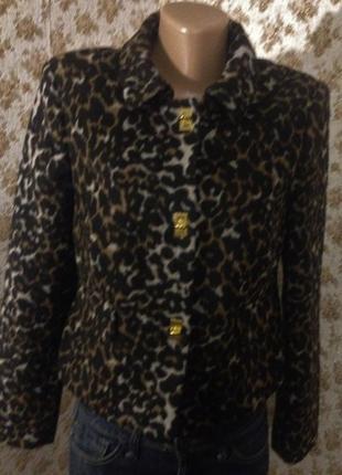 Пиджак леопард курточка m&s очень мягенький и приятный размер m
