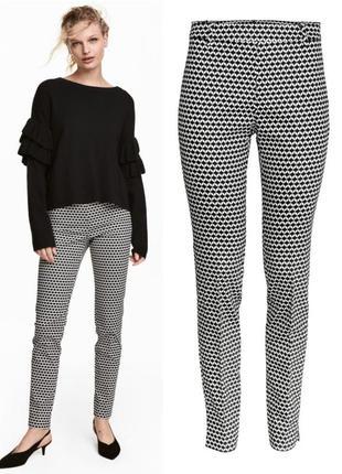Стрейчевые брюки слаксы h&m 40.l