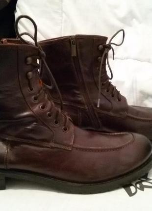 Ботинки премиум класса flecs. италия 46 разм. натуральная кожа