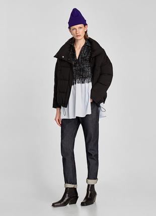 Zara твидовая блуза- кофточка . тренд xs-s размер