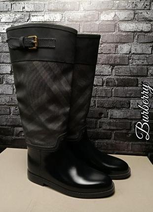Резиновые кожаные сапоги burberry оригинал