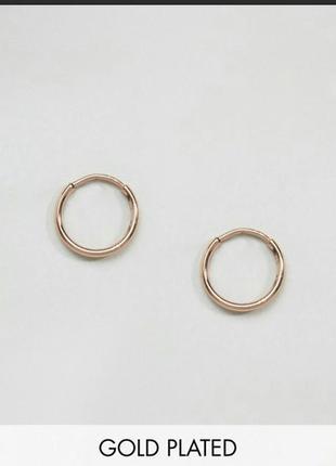 Мини серьги кольца золотые asos