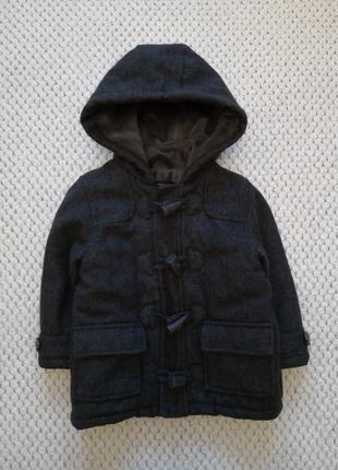 Пальто теплое в составе шерсть