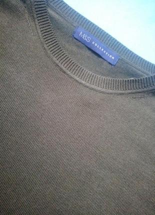 Стильний светер укорочений, кольору хаккі