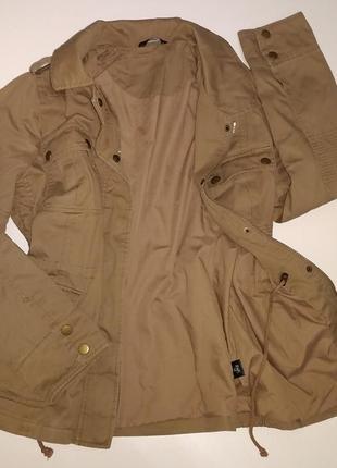 Мега стилная деми куртка парка с кнопками в стиле милитари uk18 большой размер