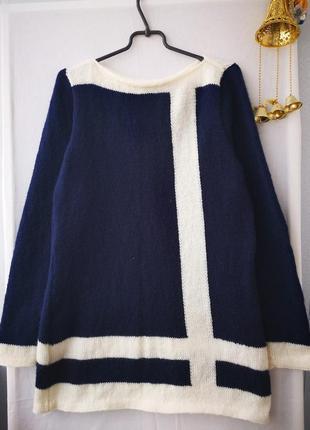 Шерстяный свитер - туника