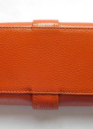 Кожаный классический кошелек корица, 100% натуральная кожа, есть доставка бесплатно3 фото