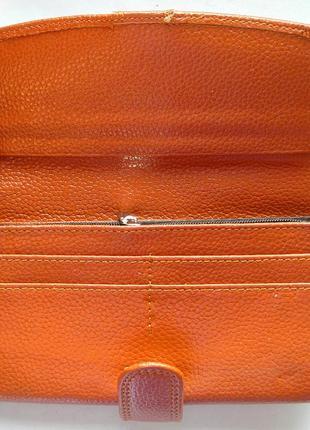 Кожаный классический кошелек корица, 100% натуральная кожа, есть доставка бесплатно4 фото
