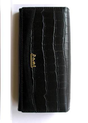 Большой кожаный кошелек крокодил fani, 100% натуральная кожа, есть доставка бесплатно2 фото