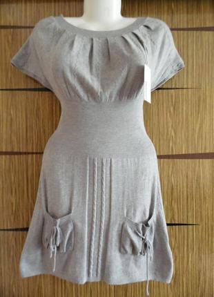 Платье весна\осень, трикотажное, новое. размер м\l - идет на 46-48.