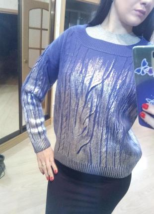 Фиолетовый свитер oodji