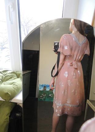 Шелковое дизайнерское платье