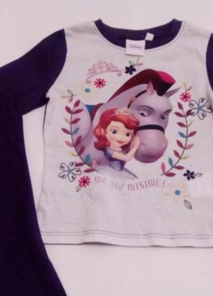 Пижамка disney софия прекрасная для девочки 2 годика