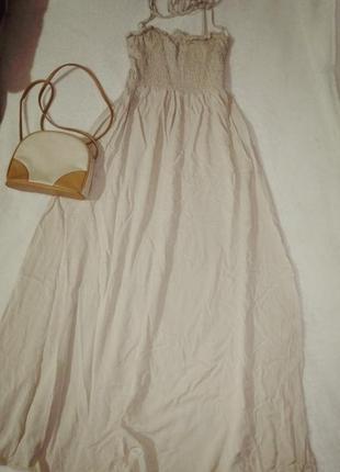 Макси платье топ резинка