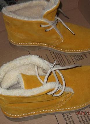Италия. мягкие и теплые ботинки итал. марки brawn's.