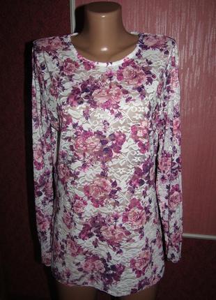 Блуза кофточка р-р л бренд janina