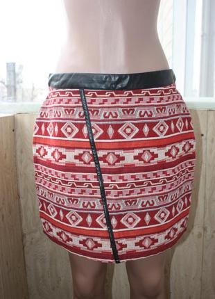 Стильная юбка гобелен в орнаментах